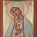 2017 Icône de la Mère de Dieu du Coeur (Fatima) - The Mother of the Heart Icon (Fatima).  Main de - Hand of : Michèle Lévesque