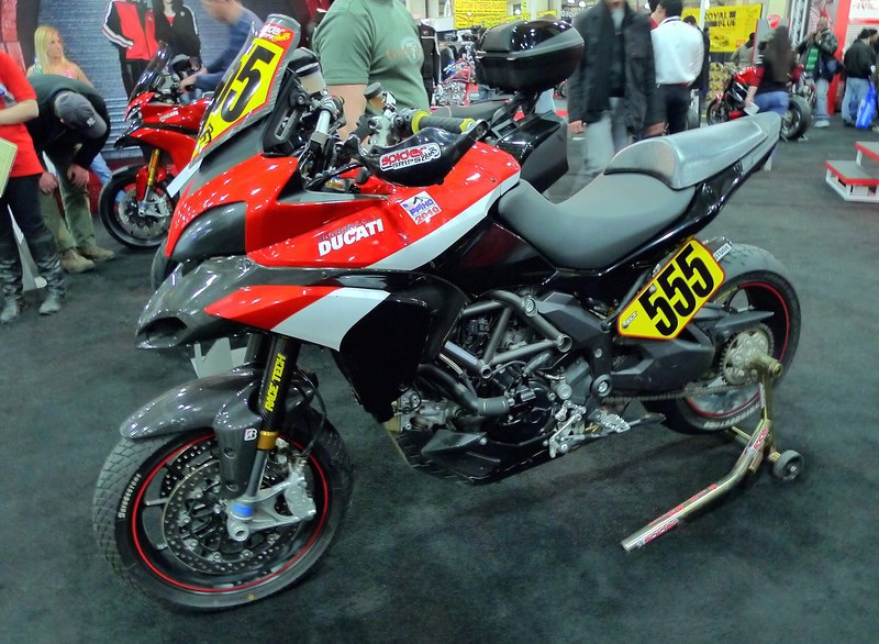 Greg Tracy's winning #555, 2010 Ducati Multistrada 1200 S Pikes Peak Race Bike