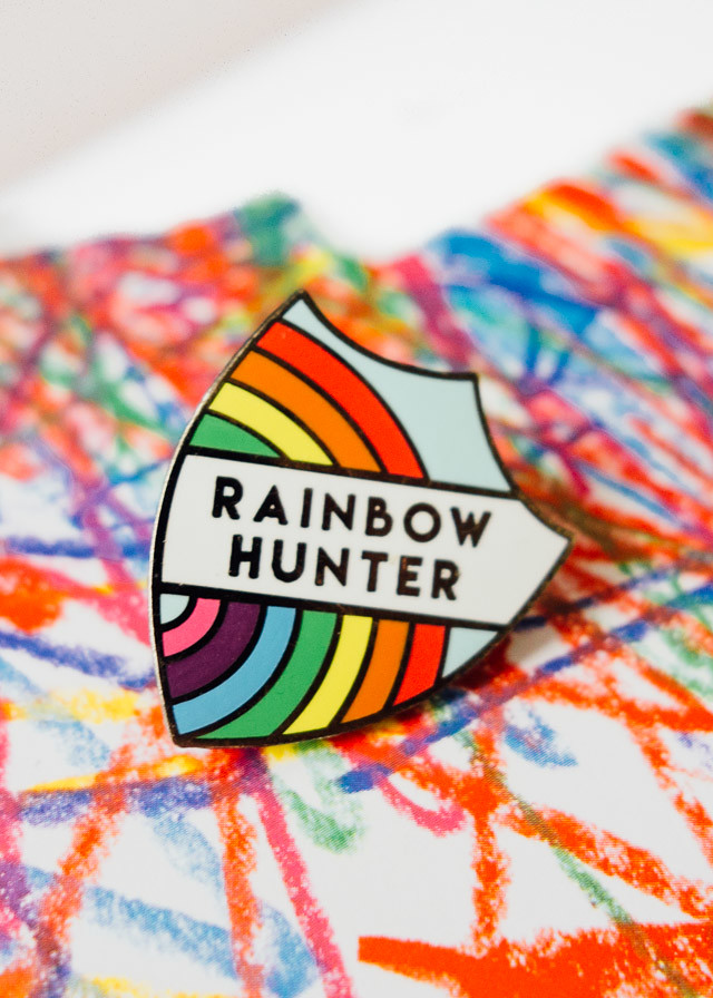 rainbow hunter pin from zabby allen