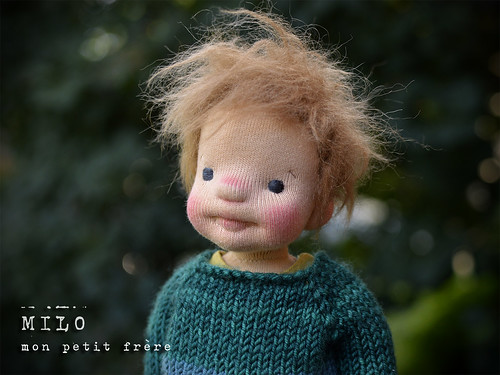 "Milo 13"" natural fiber art doll"