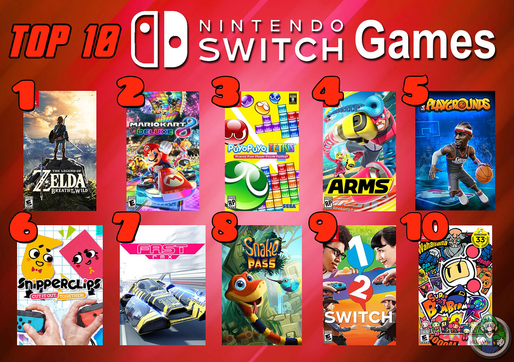 Top 10 Nintendo Switch Games  Its My Favorite Day Of Top -8454