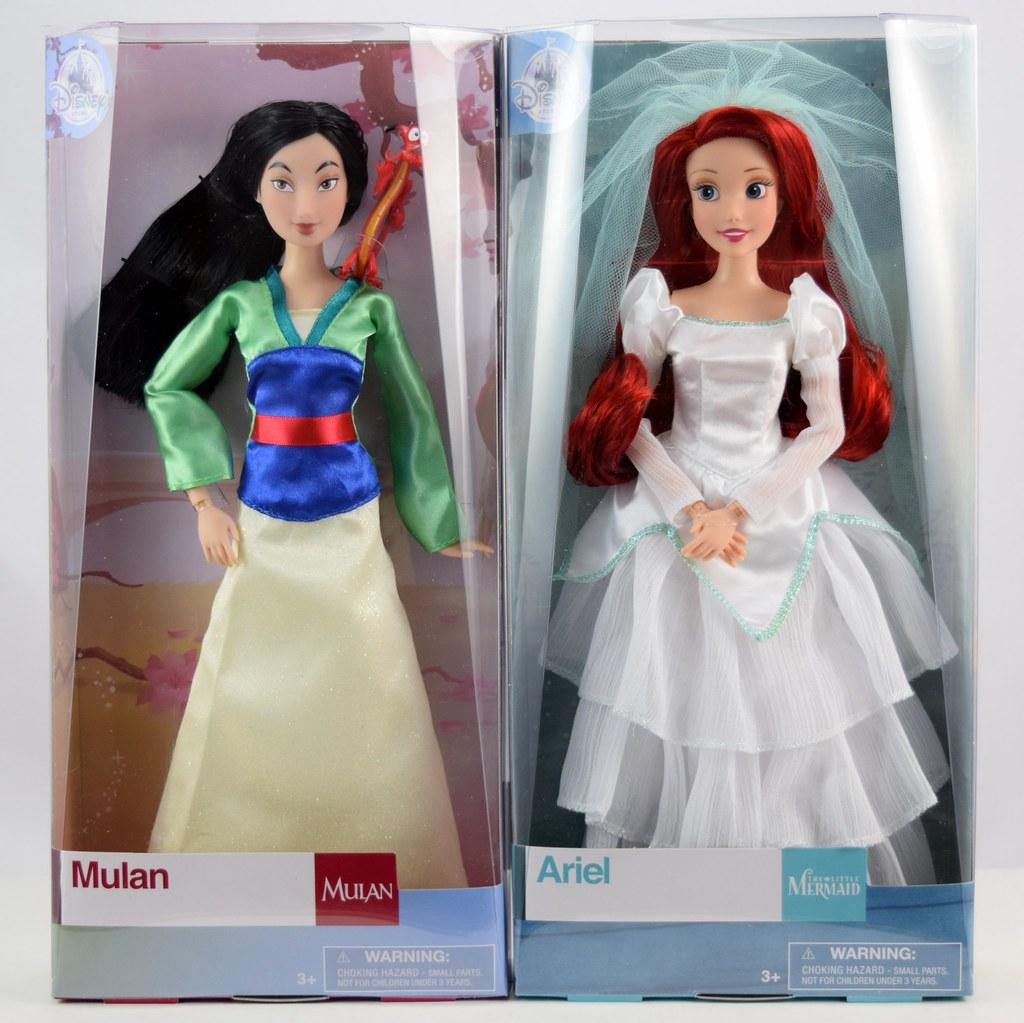 2017 Mulan And Wedding Ariel Classic Dolls Disney Store