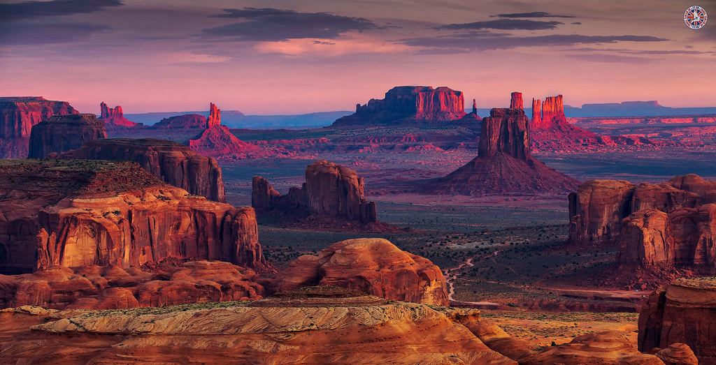 Monument Valley Arizona Sunrise In Hunts Mesa Navajo Trib Flickr