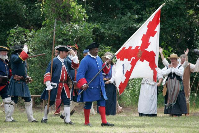 Recreadores españoles de la Batalla de Fuerte Mosé, Florida (Foto: ExploreStAugustine.info)