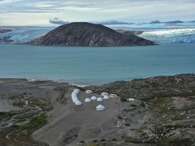 Campamento Fletanes de Tierras Polares en Qaleraliq (Sur de Groenlandia)