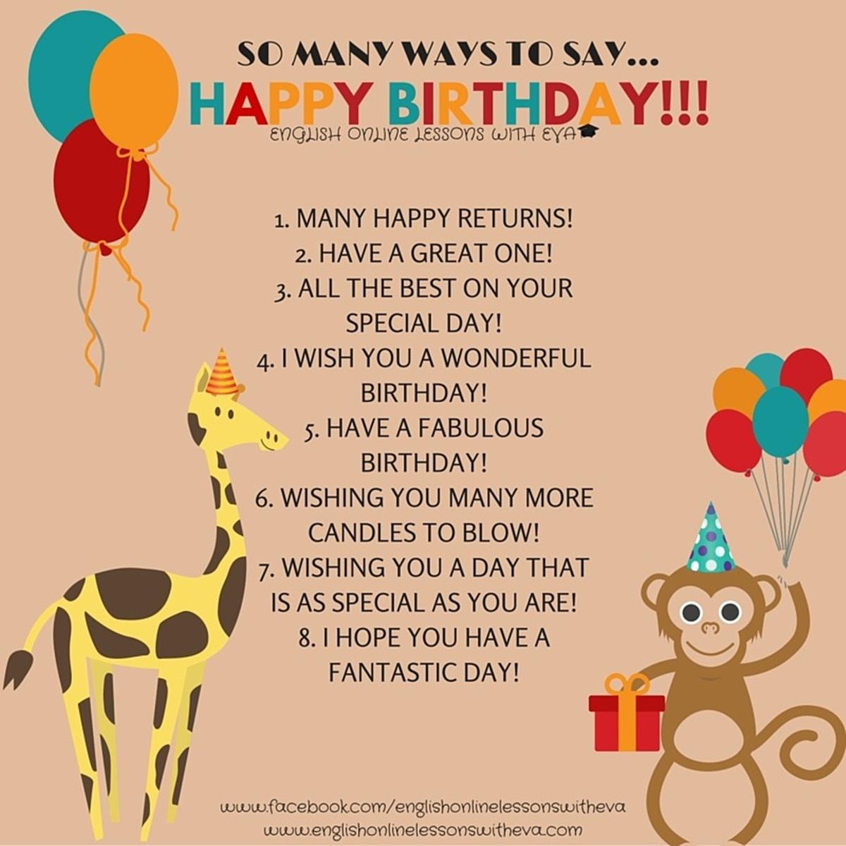 """So Many Ways to Say """"HAPPY BIRTHDAY"""" 3"""