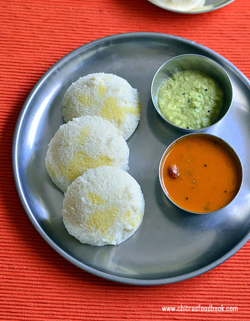 Raw rice idli