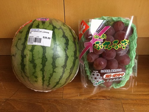Midrange Japanese Watermelon and Ruby Grapes