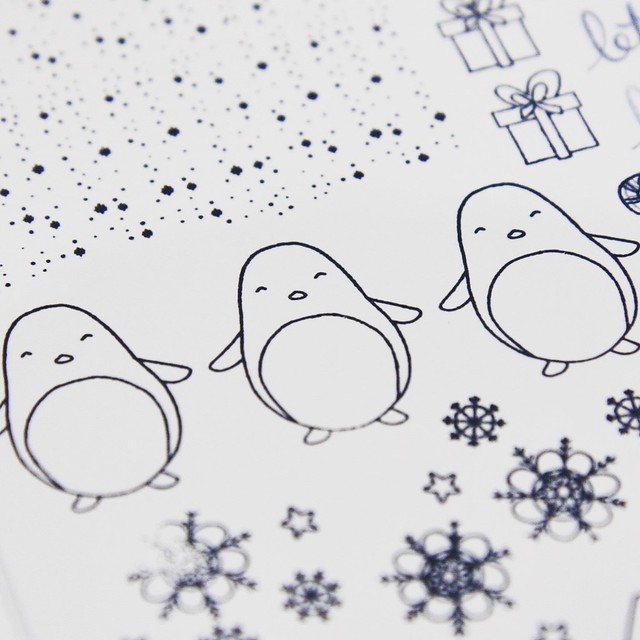 StickerKitten Penguins and Presents Christmas stamps launch - cute penguins