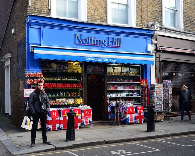 Frente a la librería de la película de Nothing Hill
