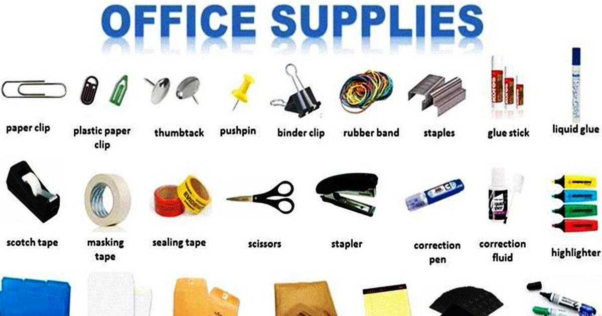 Vocabulary: OFFICE SUPPLIES 5