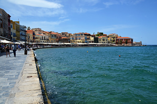 Harbour view, Chania old town, Crete