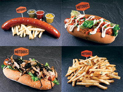 New additions to the A La Carte menu include (clockwise from bottom rightt) Truffle Fries (S$5.80), Kurobuta Pork Roll (S$8.80), Man's Jumbo Special (S$14.80), and Lady's Secret Delight (S$9.80).