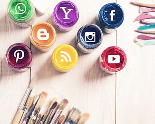 Social Media Logos on An Art Background | by mikemacmarketing