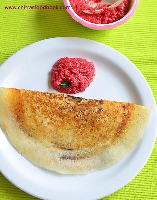 Beetroot chutney for dosa