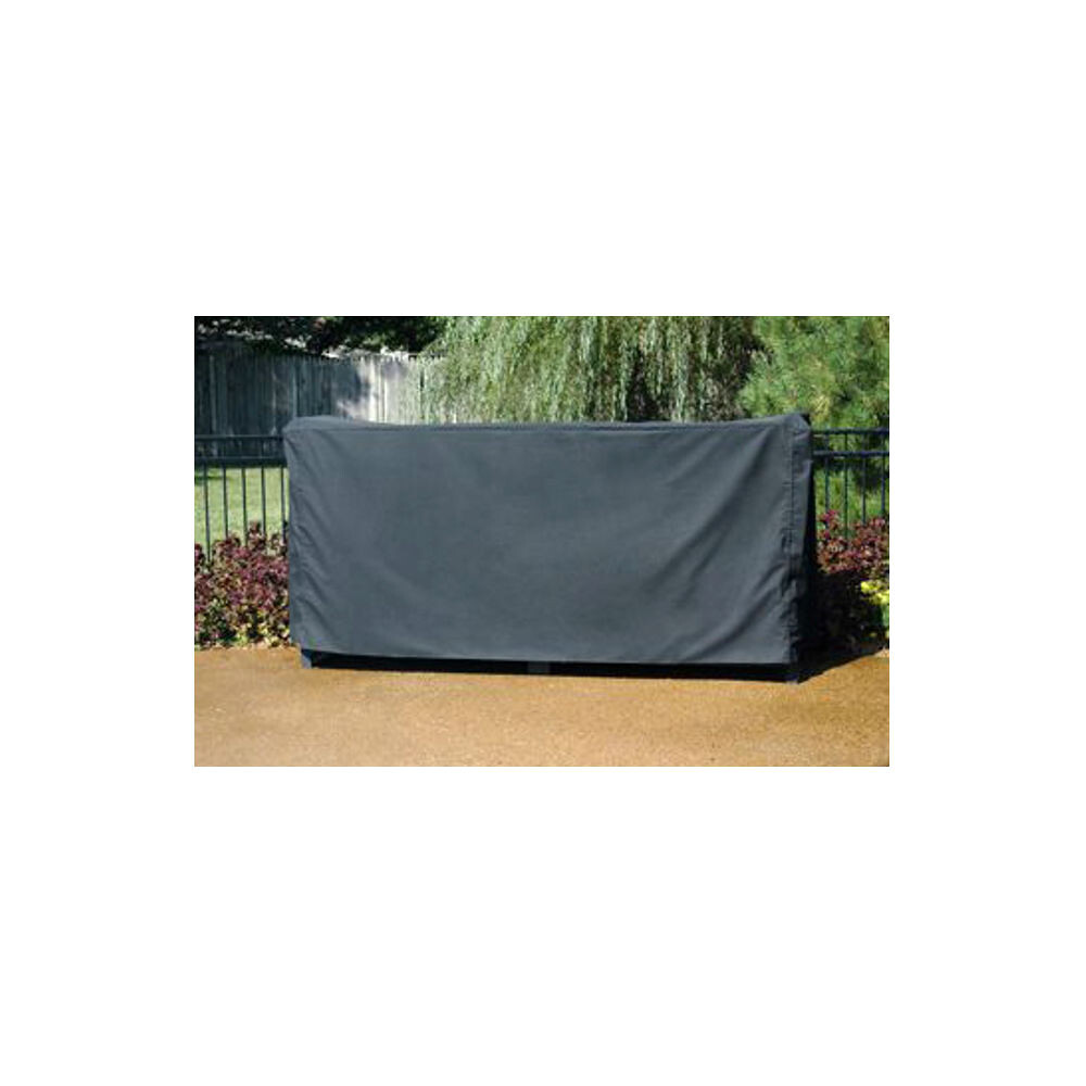 QBC Bundled Woodhaven Firewood Rack - 96FC - 8ft Full Cover - Black - 98in x 22in x 42in - Plus Free QBC Firewood Rack Guide
