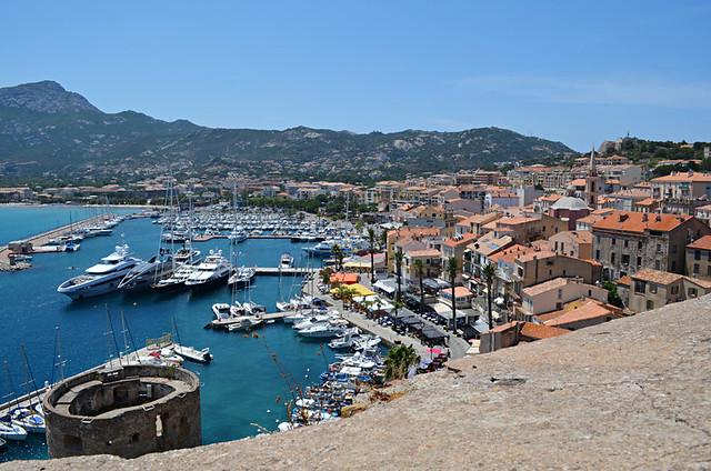 View of Calvi from the ramparts, Citadel, Calvi, Corsica