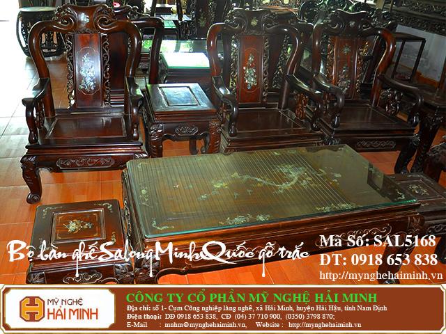 SAL5168c  Bo ban ghe Salong Minh Quoc go Trac  do go mynghehaiminh