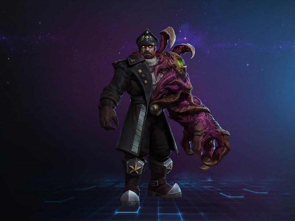 受感染的上將!「斯杜科夫」今天正式降臨《暴雪英霸》。(Blizzard Entertainment提供)