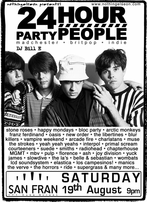 24 Hour Party People poster, August 2017