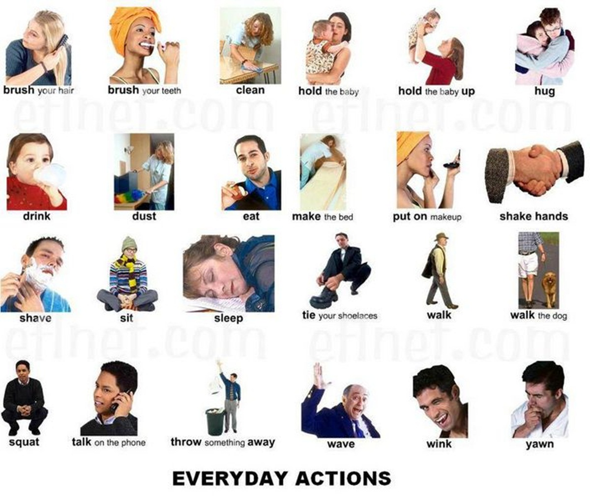 """Vocabulary: """"EVERYDAY ACTIONS"""" 3"""