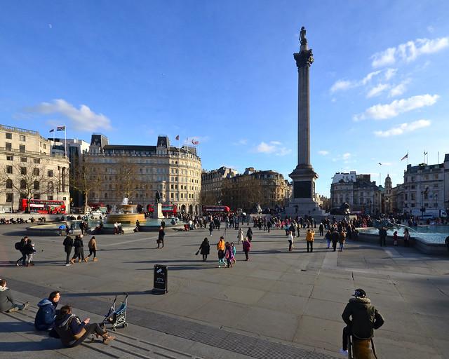 Trafalgar Square, uno de los sitios más importantes que ver en Londres