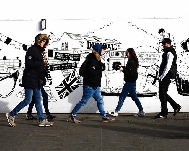 Una de las paredes del barrio de Camden Town