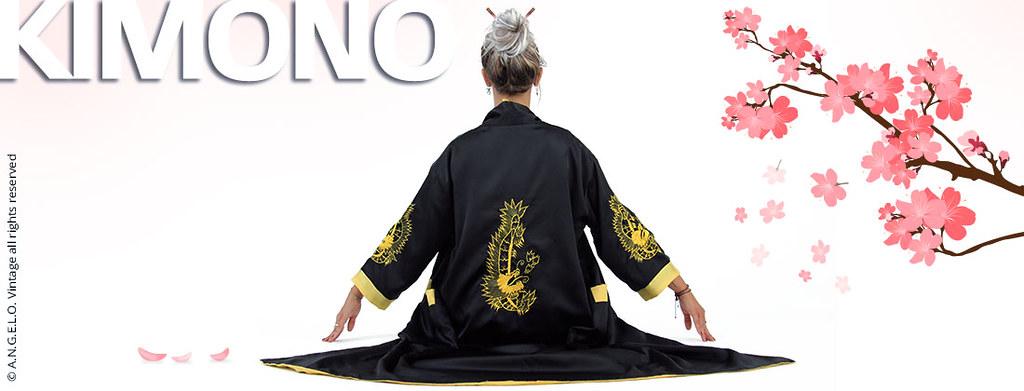 Kimono Vintage Giapponese Soprabito Angelo