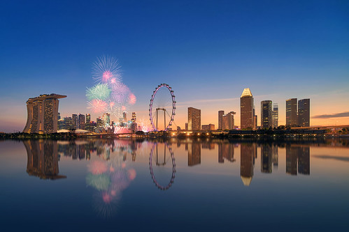 Singapore Skyline Fireworks (Explored) | by Rendeification