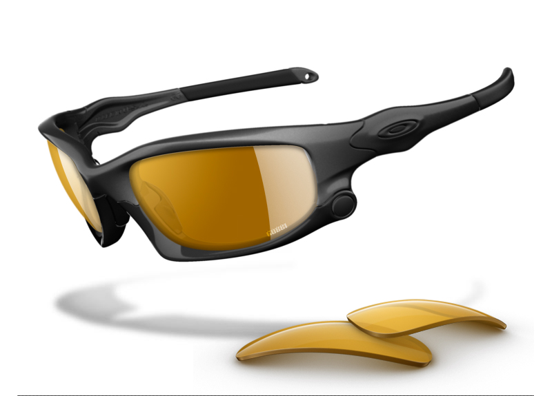 Custom Oakley Split Jacket Sunglasses with VR28 Black Iridium Polarized Lenses: GOBBI Special Edition - Urban Stealth