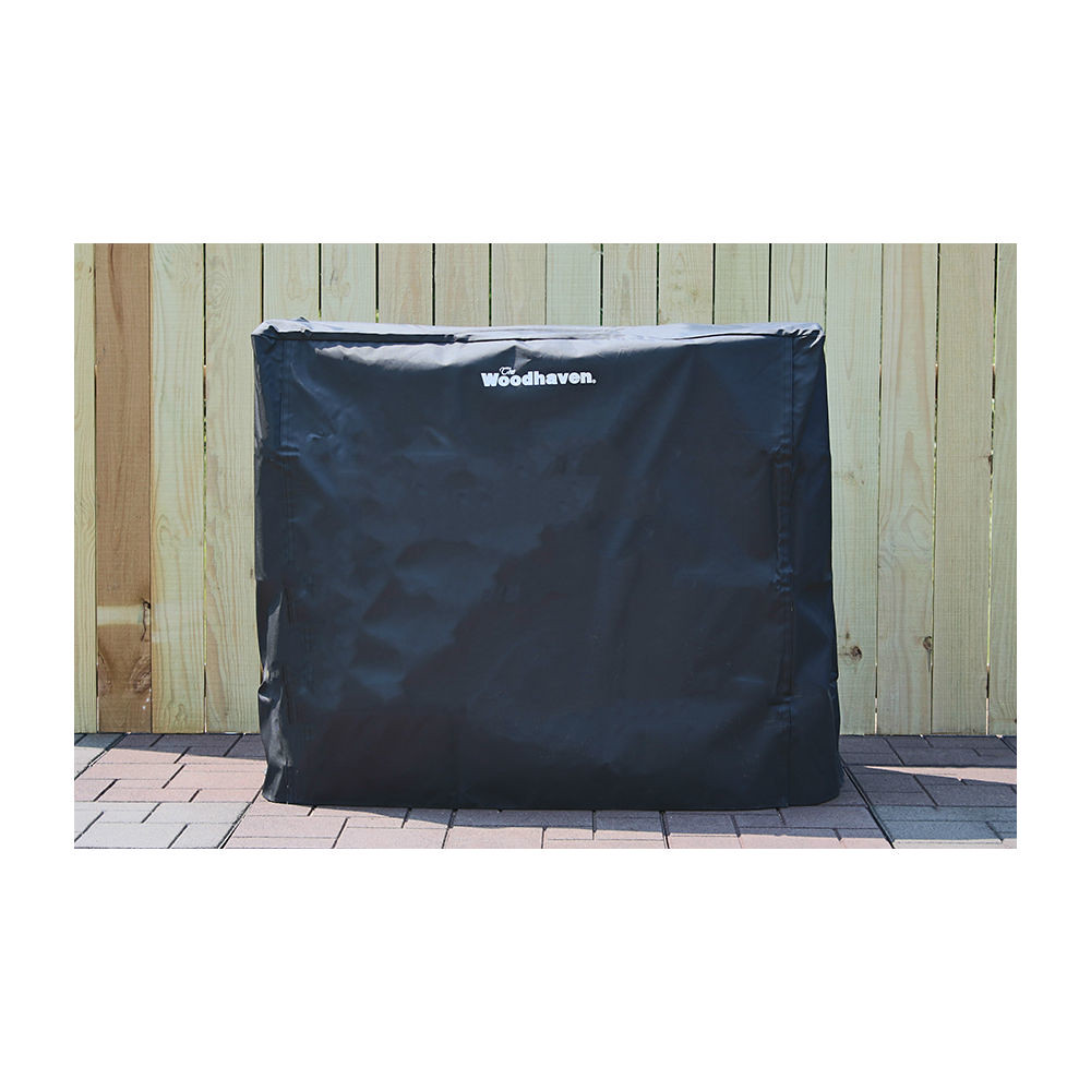 QBC Bundled Woodhaven Firewood Rack - 60FC - 5ft Full Cover - Black - 62in x 22in x 42in - Plus Free QBC Firewood Rack Guide