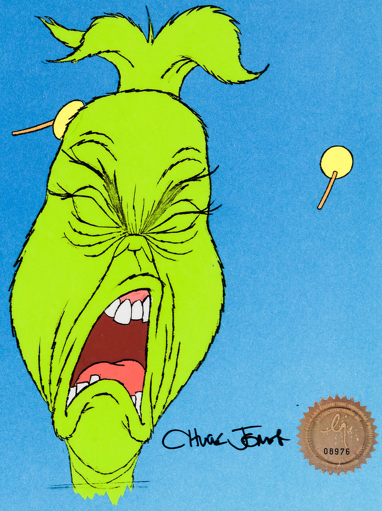 animation cel from dr seuss how the grinch stole christmas 1966 - How The Grinch Stole Christmas Animated