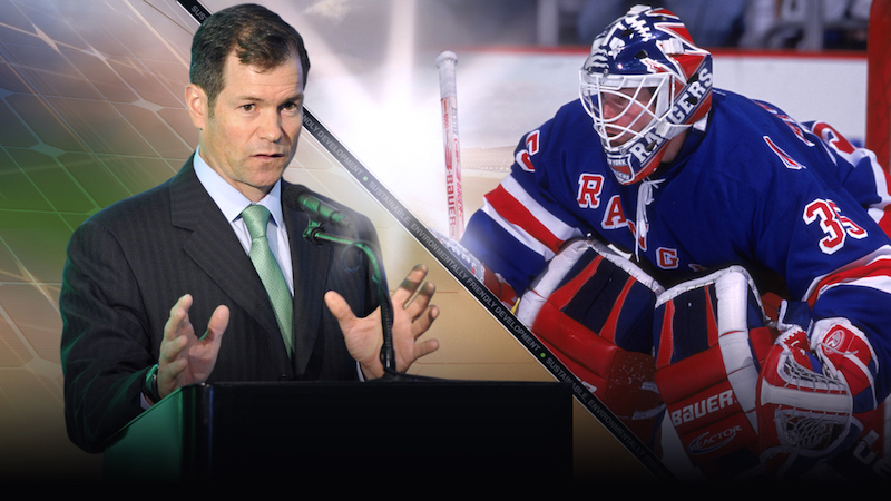 Former New York Rangers goaltender Mike Richter