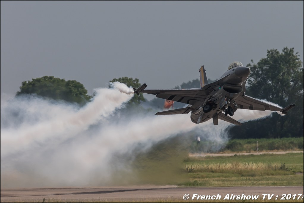 F-16 Solo Display BAF,Belgian Air Force F-16 Solo Display ,Meeting de France - Dijon Longvic 2017