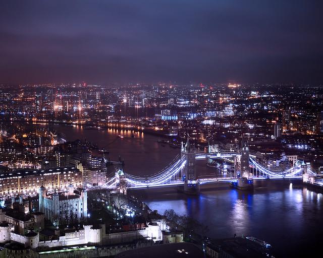 Vistas de Londres desde el skygarden