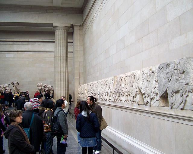 Friso del partenon griego en el museo británico