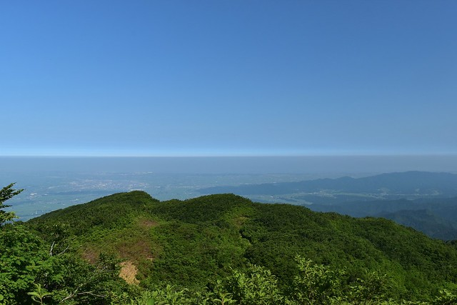 二王子岳から海の展望