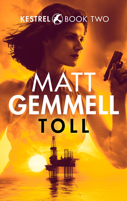 Cover artwork for TOLL, book two in the KESTREL series