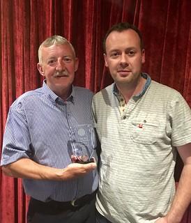 Club Captain Tommy Dyas receiving Honarary Membership