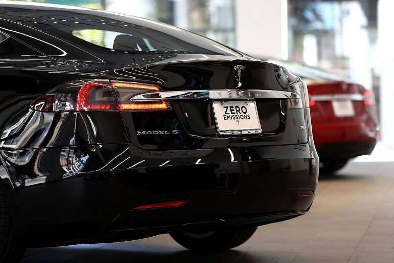 「最環保車」特斯拉。圖片來源:TFP。