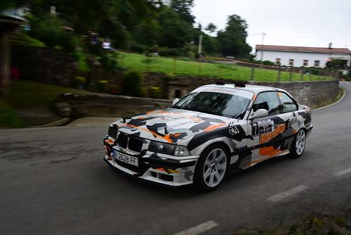 Raúl Pérez - Nagore Yañez, BMW 325i, X Rallysprint de Lanestosa Karrantza 2017