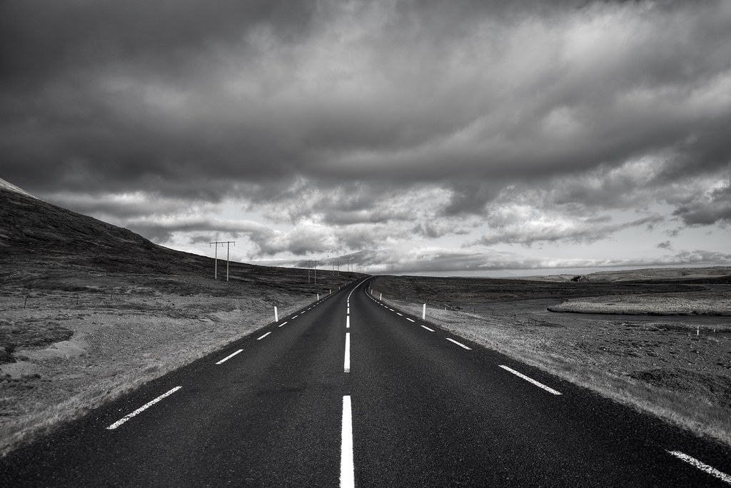 On a lonely road in Iceland | Thank you for visiting - wit ...
