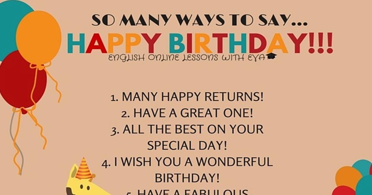"""So Many Ways to Say """"HAPPY BIRTHDAY"""" 5"""
