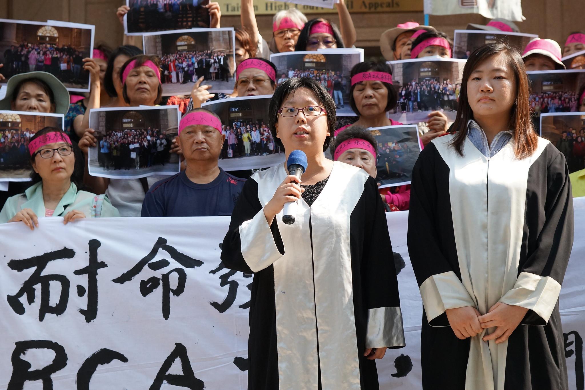 律師團成員蔡雅瀅期望二審司法做出具進步性的開創性判決。(攝影:王顥中)