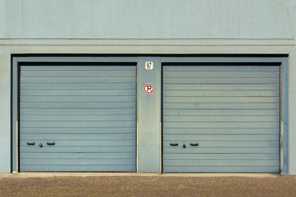 Two Blue Garage Doors Jan Van Der Wolf Flickr