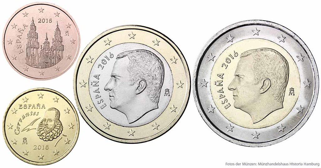 Euro Münzen Spanien Nationale Rückseiten Der Euro Münzen Flickr