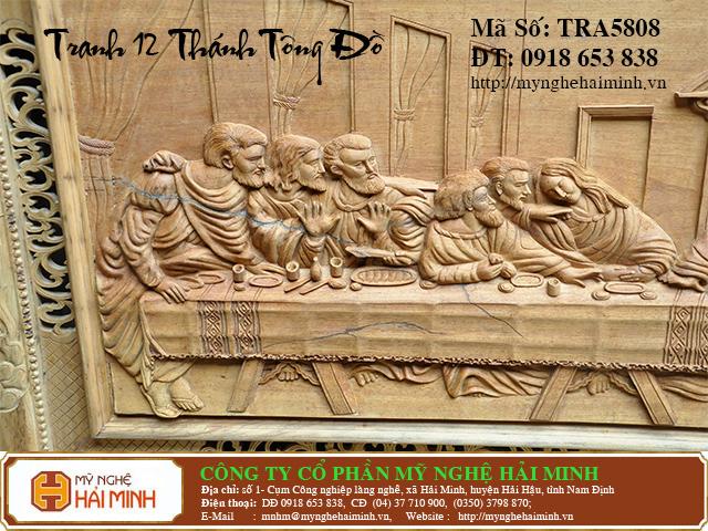 TRA5808e  Tranh 12 ong Thanh Tong Do  do go mynghehaiminh