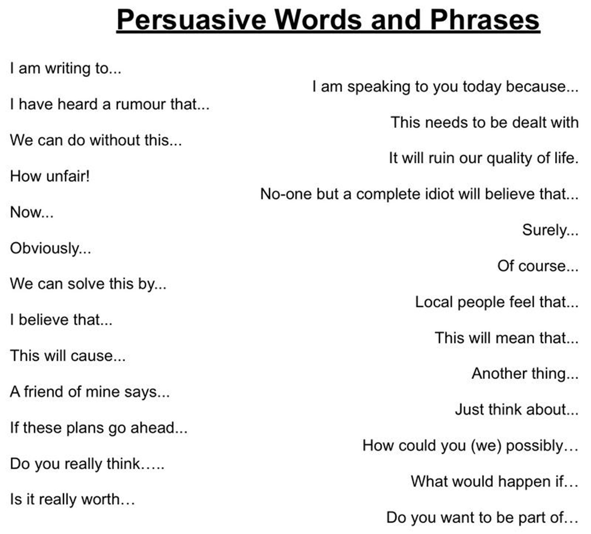 Persuasive Words & Phrases in the English Language 3