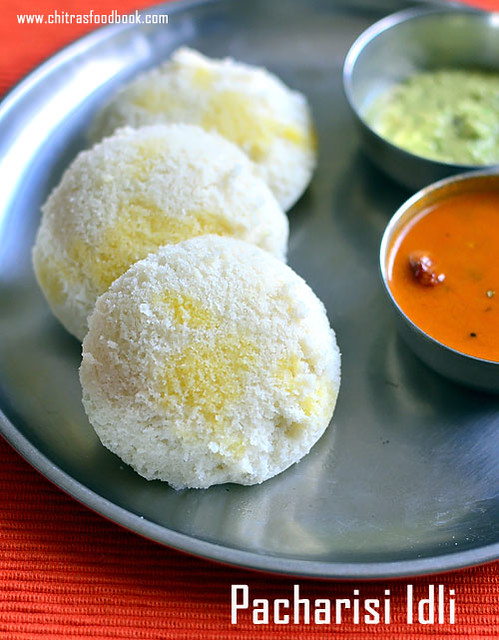 Pacharisi idli recipe