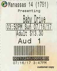Baby Driver ticketstub